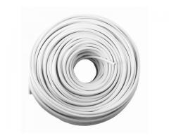 Cable Para Cerca Electrificada / Doble Aislamiento / 100 Mts / Blanco