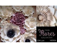 Curso de Flores Gigantes de papel MERIDA