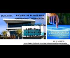 Paquete de planos para tramitar tu permiso de construcción