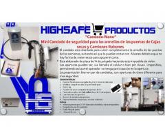 Mini Candado de seguridad para las armellas de las puertas de Cajas secas y Camiones Rabones