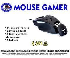 MOUSE GAMER VORAGO CON PESAS
