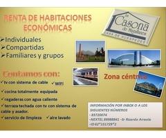 Renta de habitaciones económicas INDIVIUALES Y COMPARTIDAS