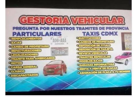 ¡Gestoria vehicular express!