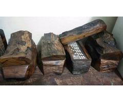 Dominós hechos a mano en madera de palo fierro