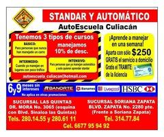 Aprende a manejar en AutoEscuela Culiacan y regresa a clases conduciendo tu Auto