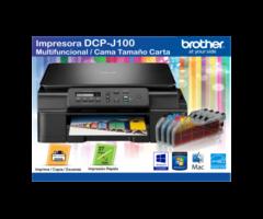 Impresora Multifuncional Dcp-j100 Brother + sistema de tinta continuo