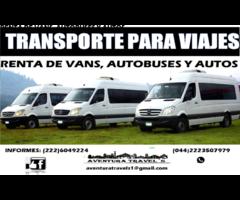 RENTA DE TRANSPORTE PARA VIAJES O EVENTOS