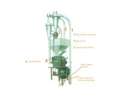 Molino para harina de trigo 500kg kit completo semi automático