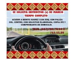 ¿Necesitas trabajo? En Autoescuela Culiacan hay una vacante para ti!